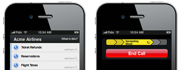 Fonolo iPhone widget