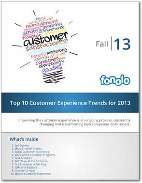 Top 10 Customer Experience Trends for 2013