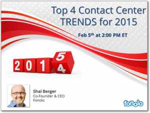Top 4 Contact Center Trends for 2015