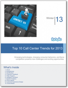 Top 10 Call Center Trends 2013