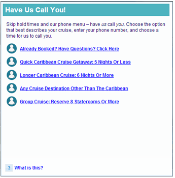 Click to call, Visual IVR and Virtual Queuing