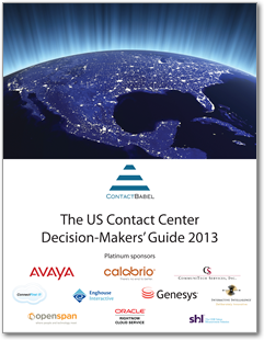 US Contact Center Decision-Makers' Guide 2013