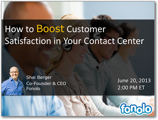 Webinar: How to Boost Customer Satisfaction in Your Contact Center