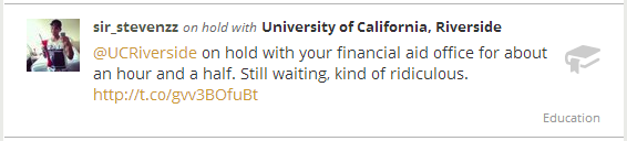 On Hold With The University of California