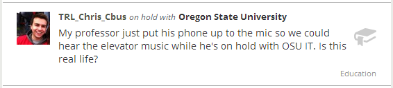On Hold With Oregon State University