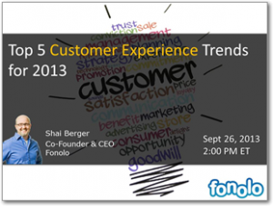 Webinar: Top 5 Customer Experience Trends for 2013