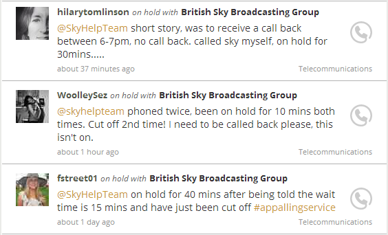 On Hold With British Sky Broadcasting Group