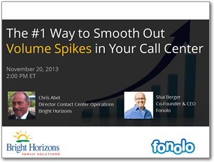 Webinar: The #1 Way to Smooth Out Volume Spikes in Your Call Center