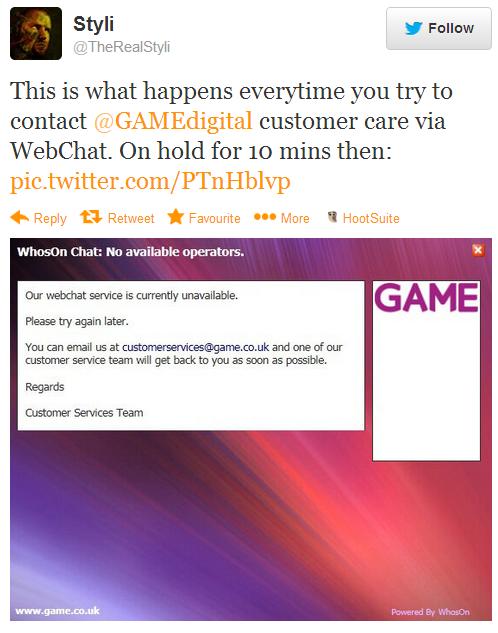 Game Digital Complaint