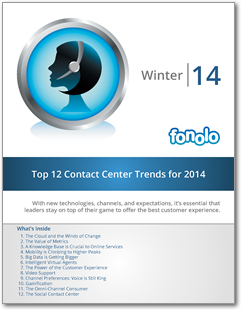 Top 12 Contact Center Trends for 2014