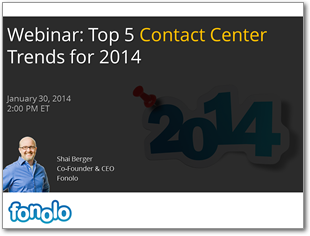 Webinar: Top 5 Contact Center Trends for 2014