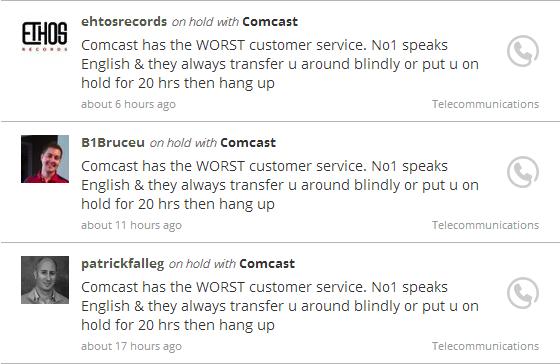 Comcast Tweets