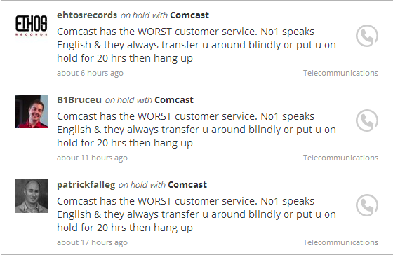 Comcast Tweets