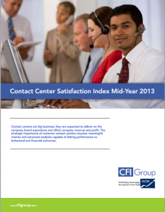 Contact Center Satisfaction Index