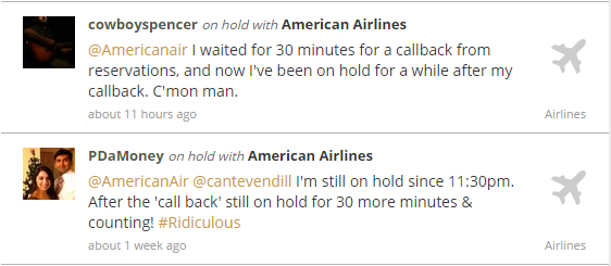 On hold with American Airlines
