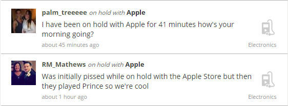 Long Hold-Time at Apple