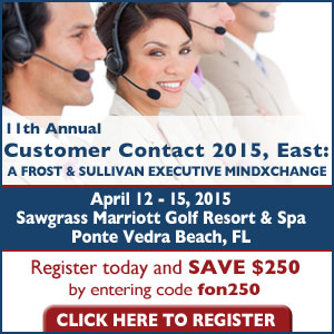 Frost & Sullivan's Customer Contact East