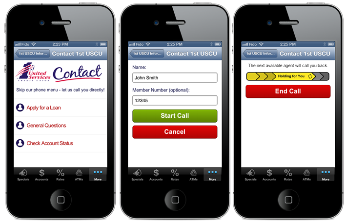 Visual IVR for Mobile Apps