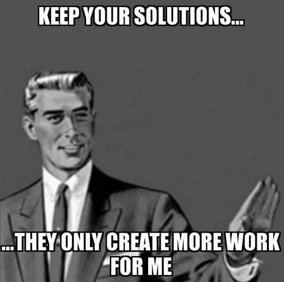 Keep your solutions MEME