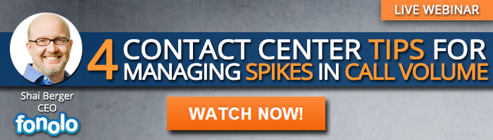 4 Contact Center Tips for Managing Spikes in Call Volume