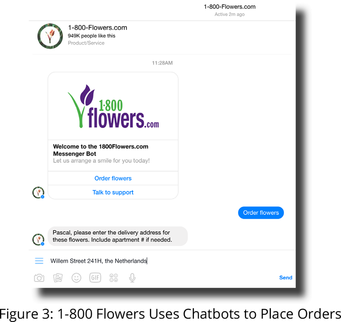1-800 Flowers Uses Chatbots