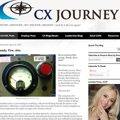 CX Journey Blog
