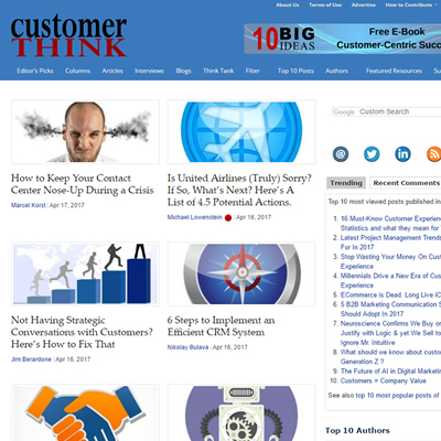 Customer Think Blog
