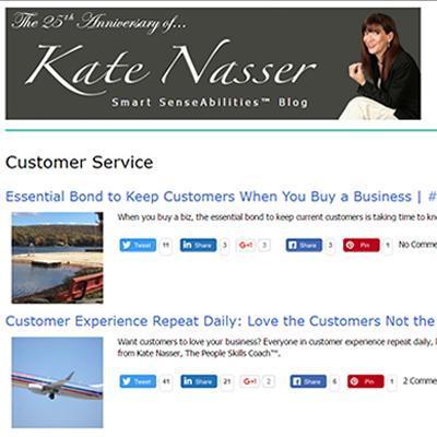 Kate Nasser Customer Service Blog