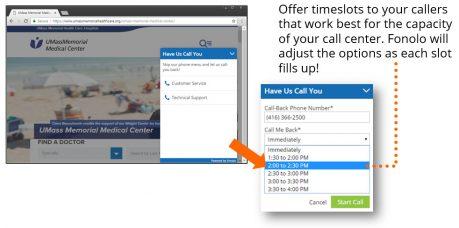 Scheduled Callback via Web Rescue