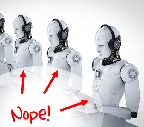 AI is not replacing call center agents