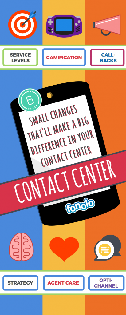 6 small changes that will make a big difference in your contact center