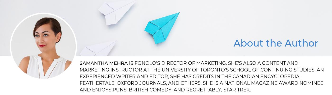 Samantha Mehra Blog Bio