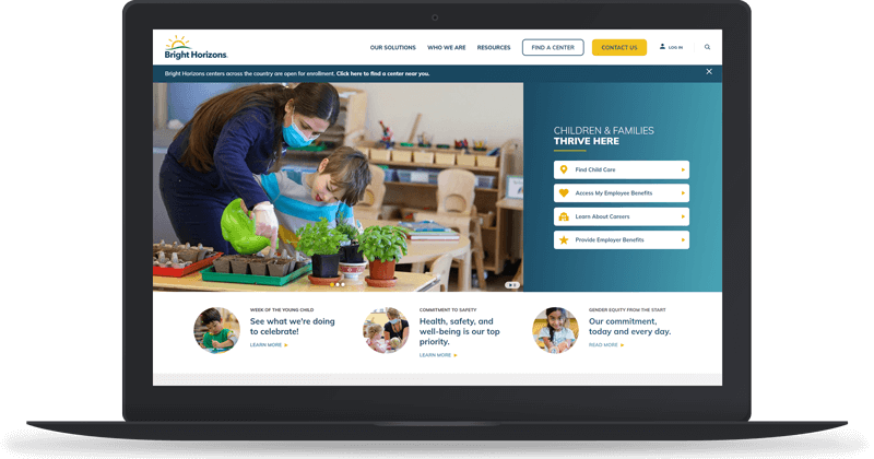 Bright Horizons Website Screenshot